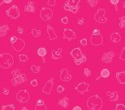 behandla som ett barn den rosa wallpaperen Royaltyfria Bilder