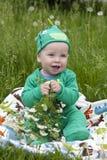 behandla som ett barn den synade härliga bluen Royaltyfri Foto