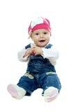 behandla som ett barn den trevliga flickan Royaltyfria Bilder