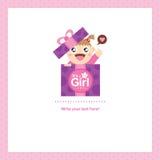 Behandla som ett barn designen för flickahälsningkortet Arkivbilder