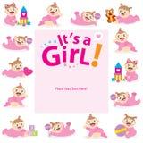 Behandla som ett barn designen för flickahälsningkortet Arkivfoton