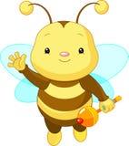 behandla som ett barn det gulliga biet Arkivfoto