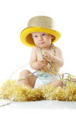 behandla som ett barn det lyckliga nya året Arkivbild