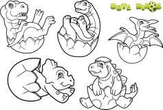 Behandla som ett barn dinosauriebilduppsättningen stock illustrationer