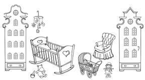 Behandla som ett barn dockan amsterdam90 50 för flickan för barnrum Royaltyfri Bild