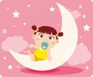 behandla som ett barn dröm- flicka s stock illustrationer