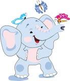 behandla som ett barn elefanten Stock Illustrationer