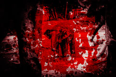 Behandla som ett barn elefanten med rött blod Royaltyfri Foto