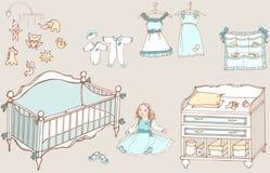Behandla som ett barn färg för flickarum 1 Arkivfoto
