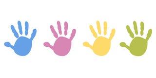 Behandla som ett barn färgade vektorn för handtryck den pastell vektor illustrationer