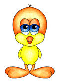 Behandla som ett barn fågeln med stor orange fot Stock Illustrationer