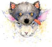 behandla som ett barn får för T-tröjadiagram behandla som ett barn fårillustrationen royaltyfri illustrationer