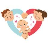 Behandla som ett barn födelse Arkivbild