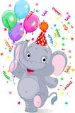 behandla som ett barn födelsedagelefanten vektor illustrationer