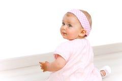 behandla som ett barn för flickahuvudet för bandet den gulliga ståenden för pinken Arkivbild