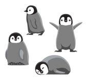 Behandla som ett barn för tecknad filmvektorn för pingvinet den gulliga illustrationen Arkivbilder