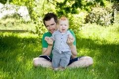 behandla som ett barn första steg Royaltyfri Bild