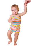 Behandla som ett barn första steg Royaltyfri Fotografi