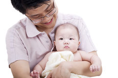 behandla som ett barn faderflickan Fotografering för Bildbyråer
