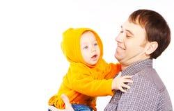 behandla som ett barn fadern Arkivbild