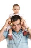 behandla som ett barn fadern royaltyfria foton
