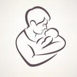 behandla som ett barn fadern vektor illustrationer