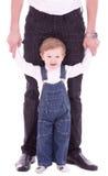 behandla som ett barn fadern hans joyful son Arkivbilder