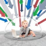 Behandla som ett barn firewallen Fotografering för Bildbyråer