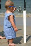 behandla som ett barn fiskaren Royaltyfria Foton