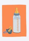 Behandla som ett barn flaskan Royaltyfri Foto