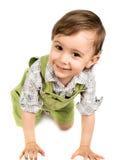 behandla som ett barn flaskflickan Fotografering för Bildbyråer