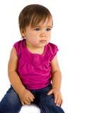 behandla som ett barn flickan arkivbild