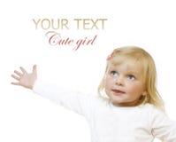 behandla som ett barn flickan Arkivfoto