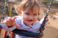 behandla som ett barn flickan Royaltyfri Foto