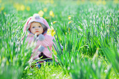 behandla som ett barn flickan little sötsak Arkivbild