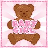 Behandla som ett barn flickan Teddy Bear Fotografering för Bildbyråer