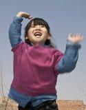 behandla som ett barn flickarapture Royaltyfri Bild