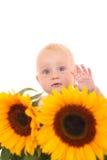 behandla som ett barn flickasommaren Royaltyfri Fotografi