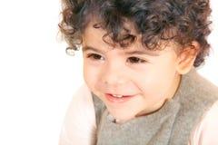Behandla som ett barn flickaståenden Fotografering för Bildbyråer