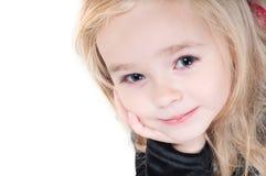 behandla som ett barn flickaståenden Royaltyfria Foton