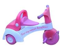 behandla som ett barn flickatrehjulingen Royaltyfri Bild