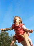 behandla som ett barn flyget Royaltyfri Fotografi