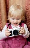 behandla som ett barn fotografen Royaltyfri Bild