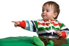behandla som ett barn framåt peka för pojke Royaltyfri Fotografi