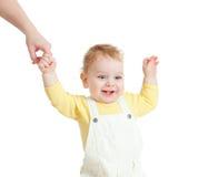 behandla som ett barn gå white för closeupståenden Royaltyfri Fotografi