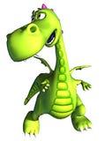 behandla som ett barn grönt gå för den dino draken royaltyfri illustrationer
