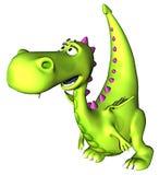 behandla som ett barn grönt gå för den dino draken stock illustrationer
