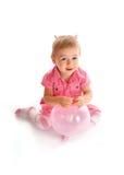 behandla som ett barn gullig ballon Royaltyfri Fotografi