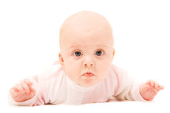 behandla som ett barn gullig månad sex Royaltyfria Bilder