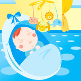 behandla som ett barn gulligt nyfött sova Arkivfoto